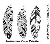 collection of hand drawn... | Shutterstock .eps vector #440895616