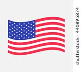 waving american flag icon.... | Shutterstock .eps vector #440895874