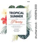 bright hawaiian design with... | Shutterstock .eps vector #440896300