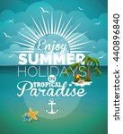 illustration on a summer... | Shutterstock . vector #440896840
