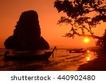 the hat phra nang beach at... | Shutterstock . vector #440902480