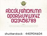 set of rounded style alphabet... | Shutterstock .eps vector #440904604