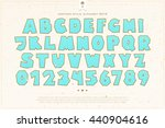 set of cartoon style alphabet... | Shutterstock .eps vector #440904616
