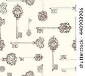 Seamless Pattern Withhand Drawn ...