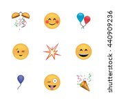 set of funny emoticon vector...