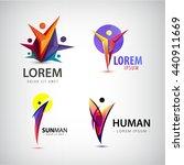 vector set of man logos  team ... | Shutterstock .eps vector #440911669