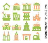 building icon set | Shutterstock .eps vector #440911798