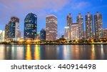 night cityscape suan benja... | Shutterstock . vector #440914498