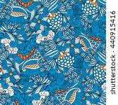 blue colored kaleidoscope... | Shutterstock .eps vector #440915416