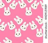 kids seamless pattern bunny | Shutterstock .eps vector #440915989
