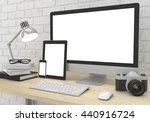 responsive mockup screen.... | Shutterstock . vector #440916724