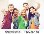 education concept   happy team... | Shutterstock . vector #440926468