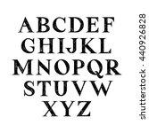 hand drawn serif font.vector. | Shutterstock .eps vector #440926828