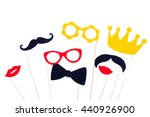 photo booth props glasses ... | Shutterstock . vector #440926900