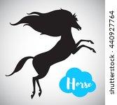 prancing horse vector...   Shutterstock .eps vector #440927764
