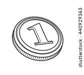 coin   Shutterstock .eps vector #440929363