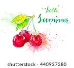 watercolor illustration of... | Shutterstock . vector #440937280
