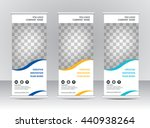 roll up banner stand template | Shutterstock .eps vector #440938264