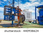 offshore oil and gas industry ... | Shutterstock . vector #440938624