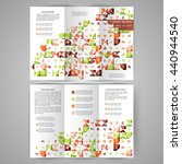 color tri fold business... | Shutterstock .eps vector #440944540
