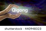 gigong word cloud and healing... | Shutterstock . vector #440948323