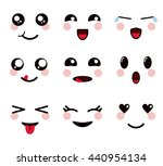 kawaii icon. set of cartoon... | Shutterstock .eps vector #440954134