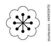 black and white flower icon | Shutterstock .eps vector #440955970