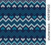 fair isle style knitted sweater ... | Shutterstock .eps vector #440958910