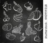set of cartoon fruit. fruit...   Shutterstock .eps vector #440959318