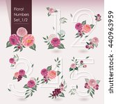 vector illustration of floral... | Shutterstock .eps vector #440963959