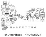 marketing team on white... | Shutterstock .eps vector #440965024