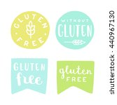 set of gluten free badges. can... | Shutterstock .eps vector #440967130