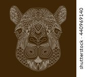 patterned head wild animal in... | Shutterstock .eps vector #440969140
