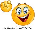 emoji making power to the... | Shutterstock .eps vector #440974204