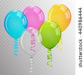 balloon. transparent balloons. | Shutterstock .eps vector #440986444