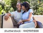 young couple relaxing on the... | Shutterstock . vector #440989888