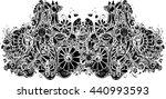abstract art of black flower... | Shutterstock .eps vector #440993593