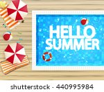 top view of swimming pool and... | Shutterstock .eps vector #440995984