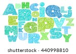 decorative alphabet with a... | Shutterstock .eps vector #440998810