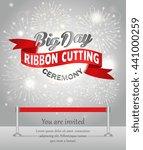 grand opening celebration... | Shutterstock .eps vector #441000259