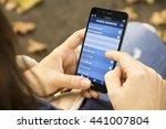 e banking concept  woman... | Shutterstock . vector #441007804