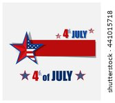happy independence day card ... | Shutterstock .eps vector #441015718