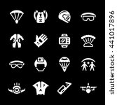 set icons of parachute | Shutterstock .eps vector #441017896