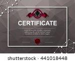 elegant template of diploma... | Shutterstock .eps vector #441018448