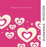 hearts background vector | Shutterstock .eps vector #44102104