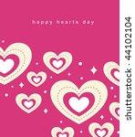hearts background vector | Shutterstock .eps vector #44102104