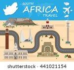 south africa landmark global... | Shutterstock .eps vector #441021154