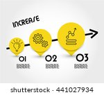 yellow increase infographic ... | Shutterstock .eps vector #441027934