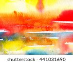 macro wash watercolor... | Shutterstock . vector #441031690