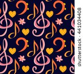 Seamless Music Pattern With...